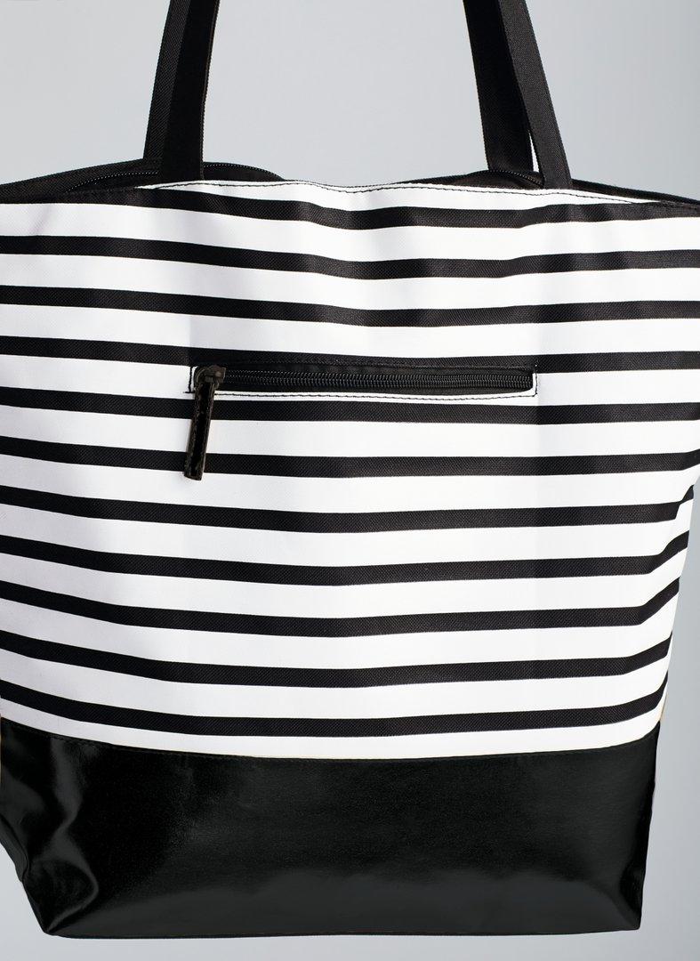 Mustavalkoraidallinen Laukku : Stripe laukku amoena